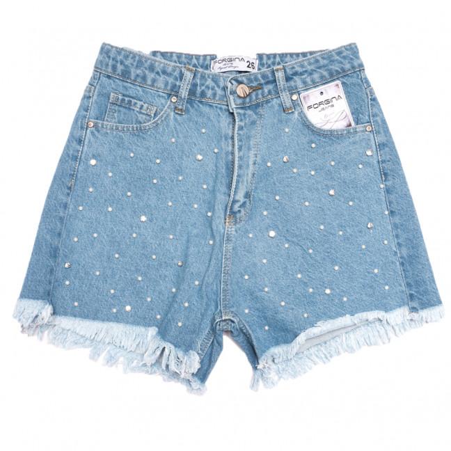 5655 Forgina шорты джинсовые женские синие коттоновые (26-31, 6 ед.) Forgina: артикул 1108465