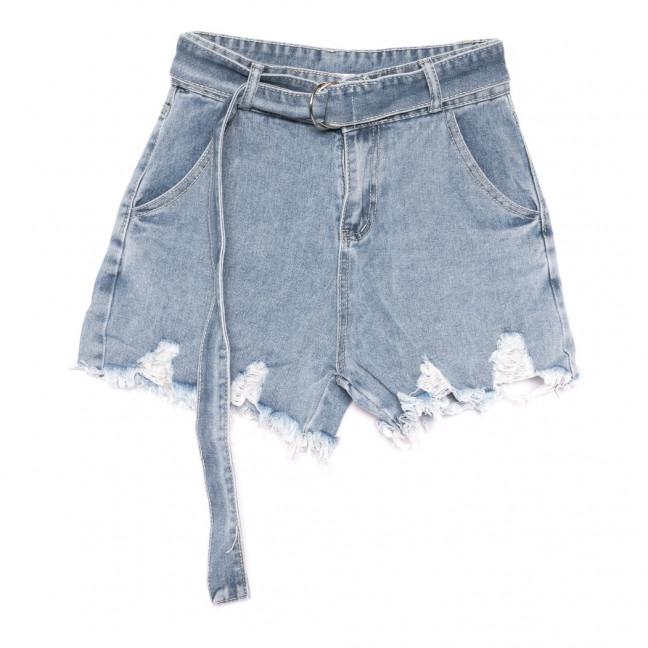 6168 Saint Wish шорты джинсовые женские с рванкой синие коттоновые (25-30, 6 ед.) Saint Wish: артикул 1108109