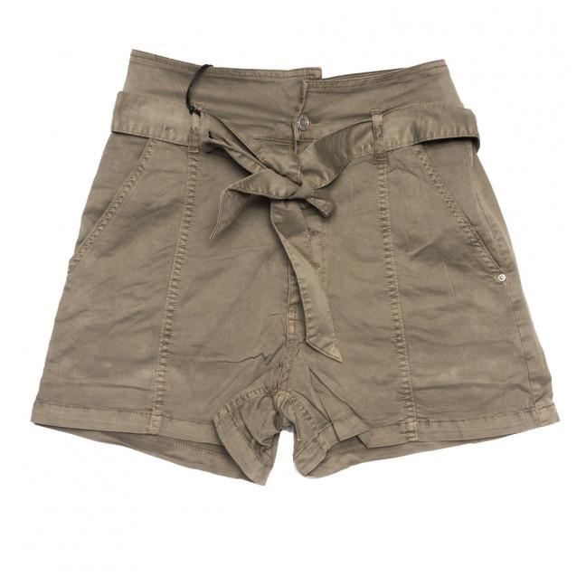9070-11 хаки Saint Wish шорты джинсовые женские стрейчевые (XS-XL, 5 ед.) Saint Wish: артикул 1108095