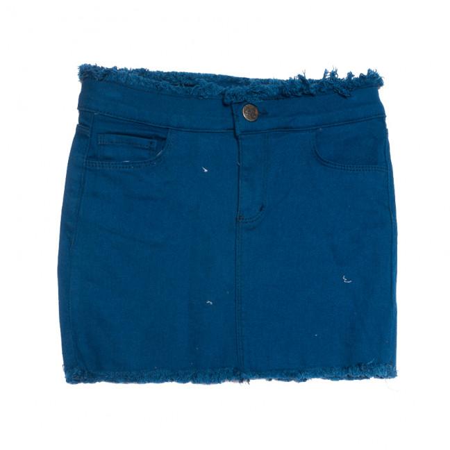 1136 синяя Woodstar юбка джинсовая стрейчевая (S-XL, 6 ед.) WoodStar: артикул 1108484