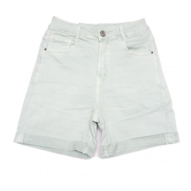 9058-12 ментоловые Saint Wish шорты джинсовые женские стрейчевые (XS-XL, 5 ед.) Saint Wish: артикул 1108093