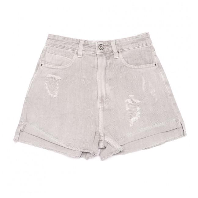 9026-8 серые Saint Wish шорты джинсовые женские с рванкой коттоновые (25-30, 6 ед.) Saint Wish: артикул 1108146