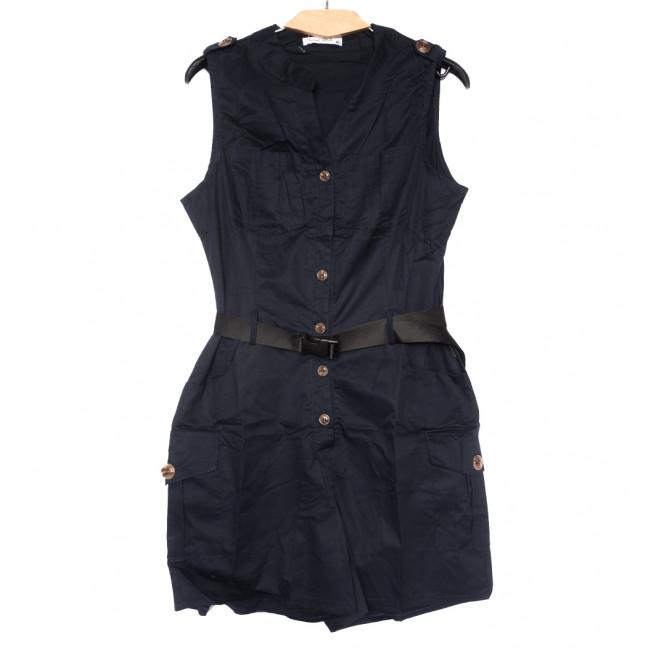 8385 темно-синий Saint Wish комбинезон текстильный летний стрейчевый (S-2XL, 5 ед.) Saint Wish: артикул 1108201