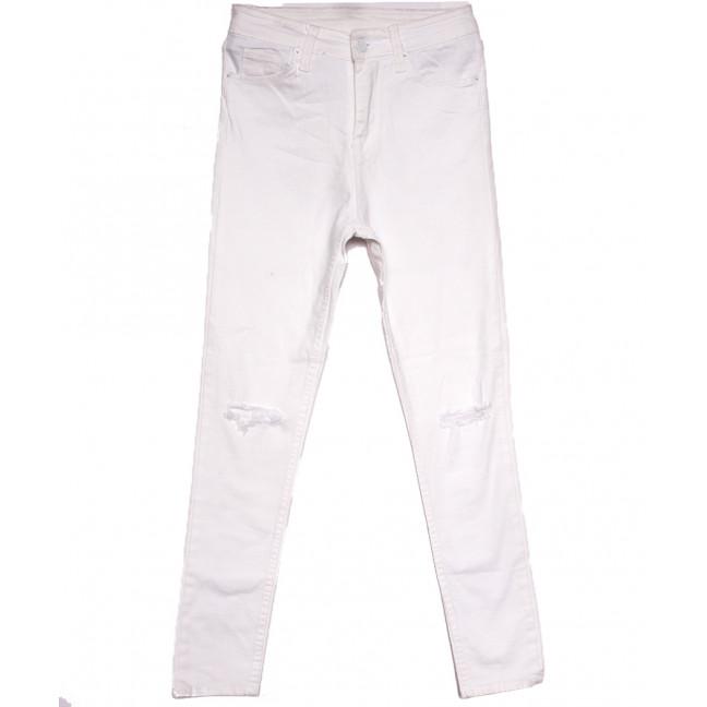 1302 Selfy джинсы женские с рванкой белые весенние стрейчевые (26-32, 5 ед.) Selfy: артикул 1107901