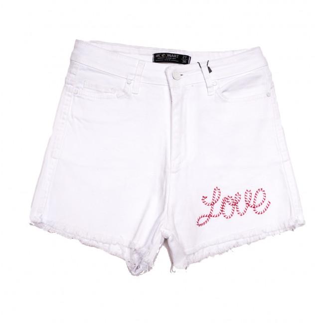 0227 MoonArt шорты джинсовые женские белые стрейчевые (26-31, 6 ед.) MoonArt: артикул 1108473