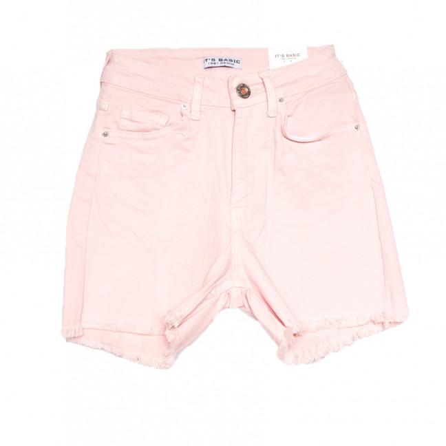1491 Pudra Its Basic шорты джинсовые женские розовые стрейчевые (32-40,евро, 6 ед.) Its Basic: артикул 1108423