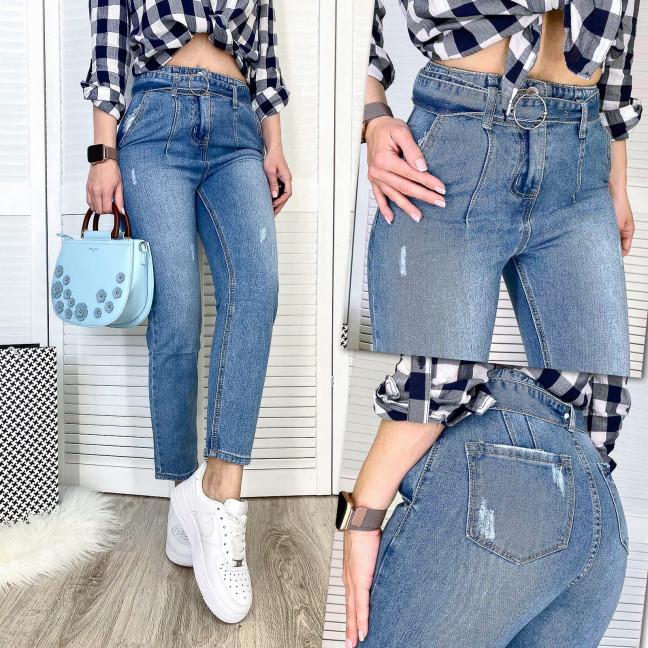 3606 New jeans мом синий с царапками весенний коттоновый (25-30, 6 ед.) New Jeans: артикул 1102237