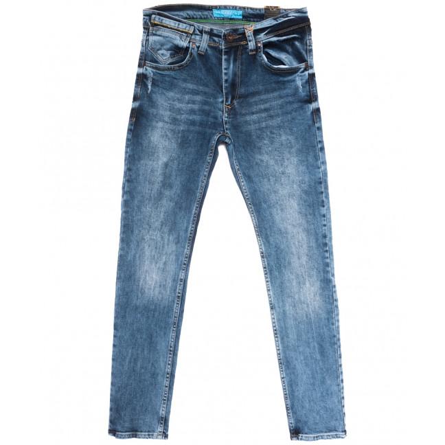6790 Blue Nil джинсы мужские с царапками синие весенние стрейчевые (29-36, 8 ед.) Blue Nil: артикул 1108724