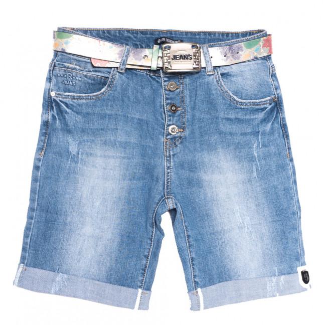 9487 LDM шорты джинсовые женские полубатальные синие стрейчевые (28-33, 6 ед.) LDM: артикул 1108907
