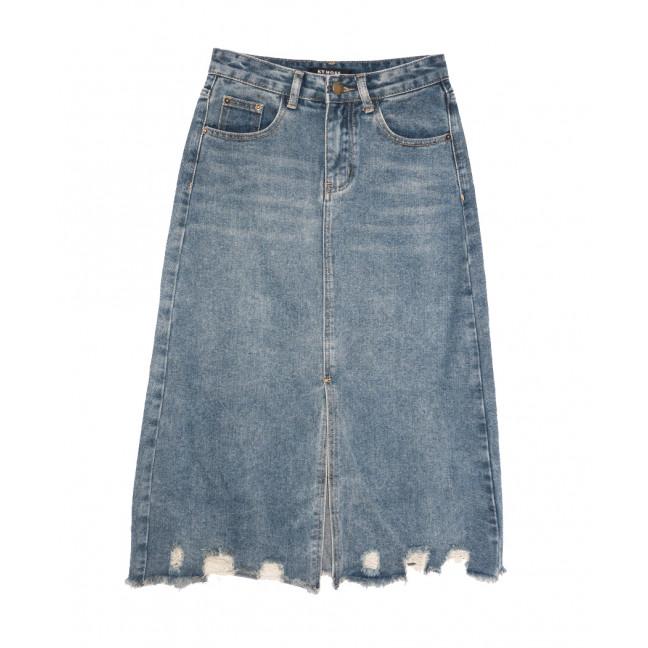 0564 KT.Moss юбка джинсовая c рванкой синяя коттоновая (S-XL, 6 ед.) KT.Moss: артикул 1109233