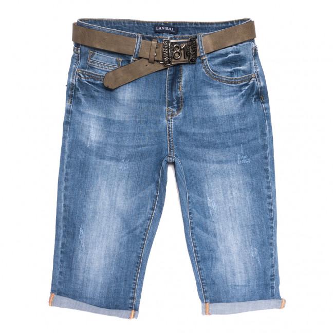 0173 Lan Bai шорты джинсовые женские батальные с царапками синие стрейчевые (32-42, 6 ед.) Lan Bai: артикул 1108921