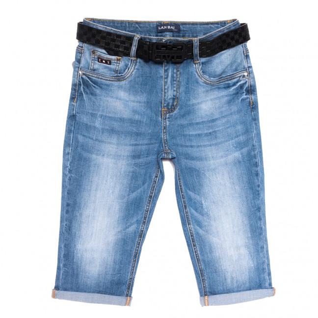 0168 Lan Bai шорты джинсовые женские батальные с царапками синие стрейчевые (30-36, 6 ед.) Lan Bai: артикул 1108918