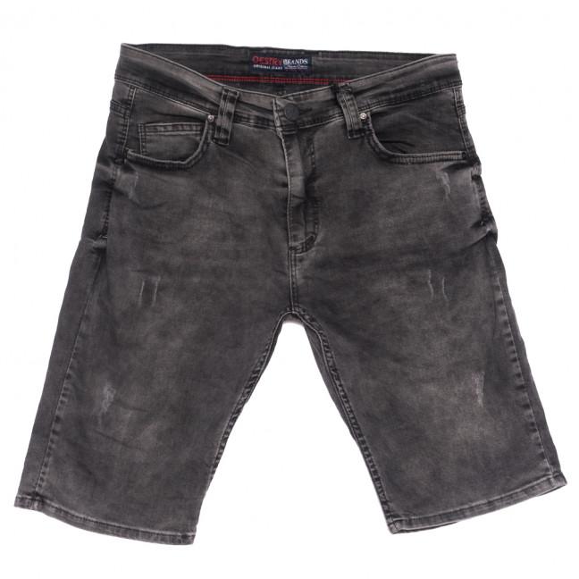 6670 Destry шорты джинсовые мужские с царапками серые стрейчевые (29-36, 8 ед.) Destry: артикул 1108728