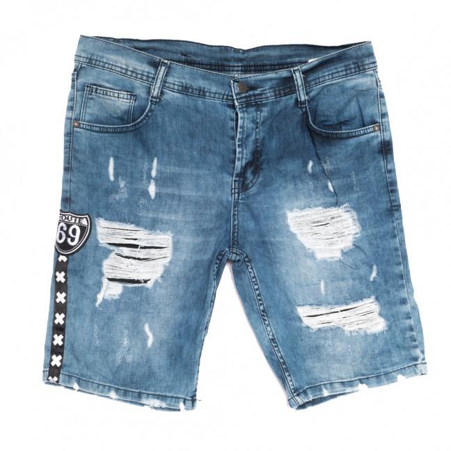 9183 Denim шорты джинсовые мужские с рванкой синие стрейчевые (29-36, 7 ед.) Denim: артикул 1108573