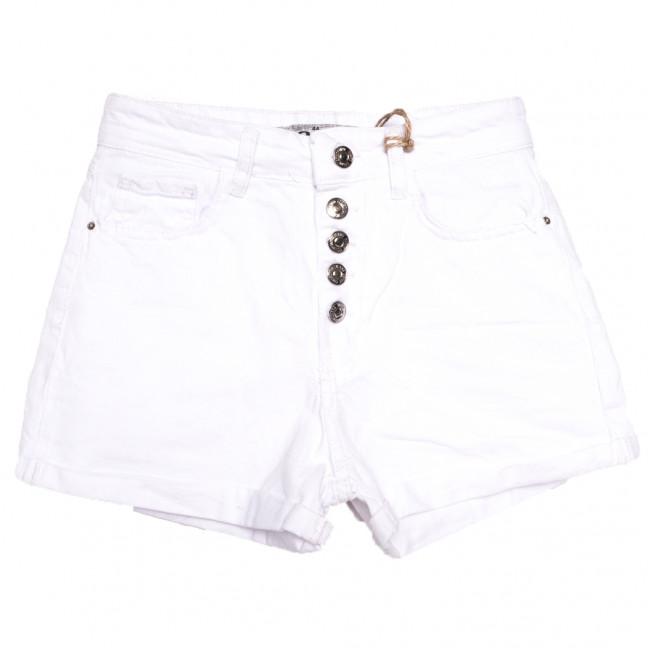 0202 Dobre шорты джинсовые женские на пуговицах белые стрейчевые (34-42,евро, 5 ед.) Dobre: артикул 1108953
