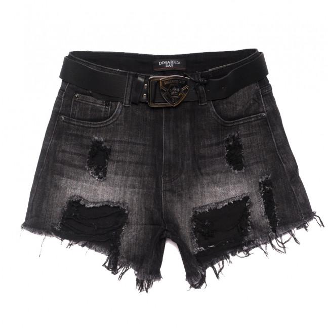 6160 Dmarks шорты джинсовые женские с рванкой темно-серые коттоновые (25-30, 6 ед.) Dmarks: артикул 1108603