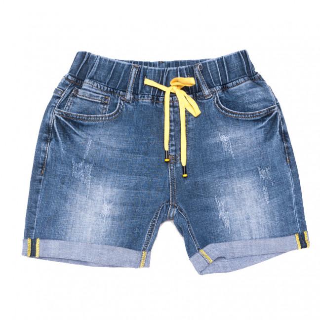 8391 Vanver шорты джинсовые женские полубатальные с царапками синие стрейчевые (28-33, 6 ед.) Vanver: артикул 1108629