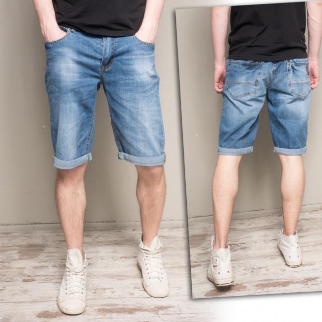 5504-3 R Relucky шорты джинсовые мужские полубатальные синие стрейчевые (32-42, 8 ед.) Relucky: артикул 1106118