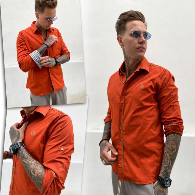 0732 YXC рубашка мужская терракотовая (3XL-6XL, 4 ед.) YXC: артикул 1109370
