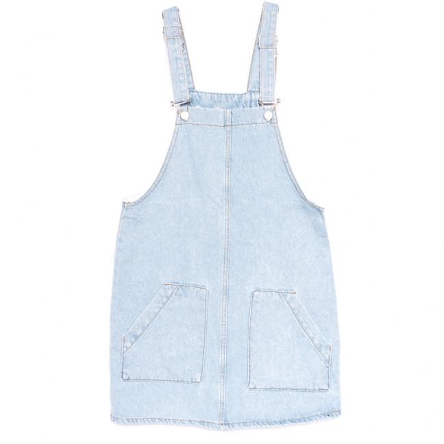 1955 сарафан джинсовый синий весенний коттоновый (ХS-L, 6 ед.) Сарафан: артикул 1109206
