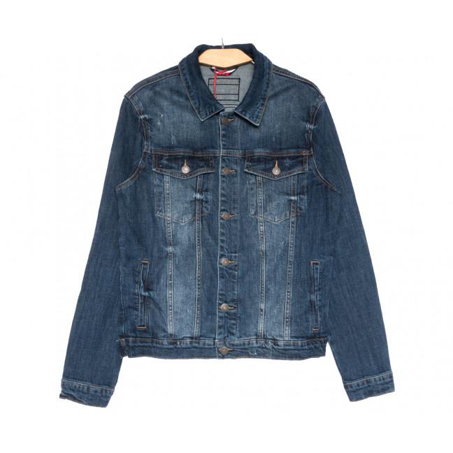 0726 Disqunew куртка джинсовая мужская синяя весенняя стрейчевая (S-3XL, 6 ед.) Disqunew: артикул 1109579