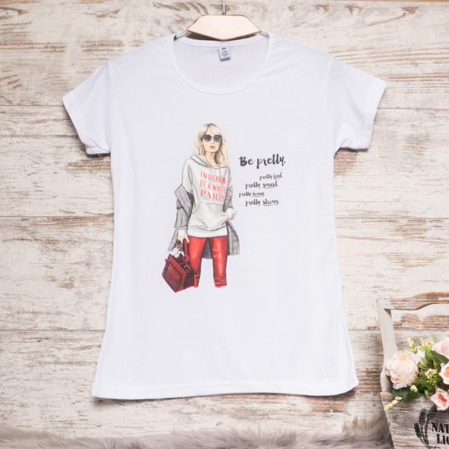 Белая женская футболка с принтом Carla Mara 3208-1 Carla Mara: артикул 1110816