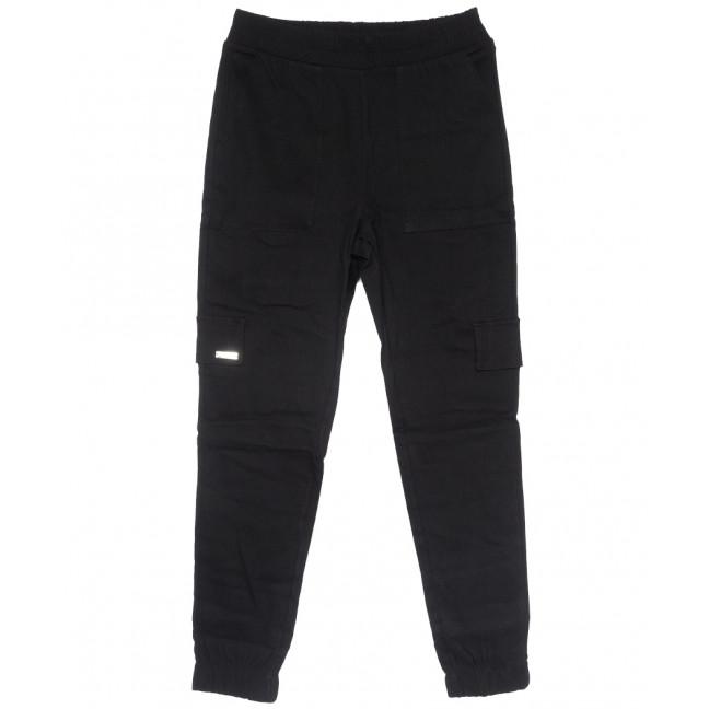 0215 черные Exclusive брюки карго женские летние стрейчевые (42-48,евро, 4 ед.) Exclusive: артикул 1109505