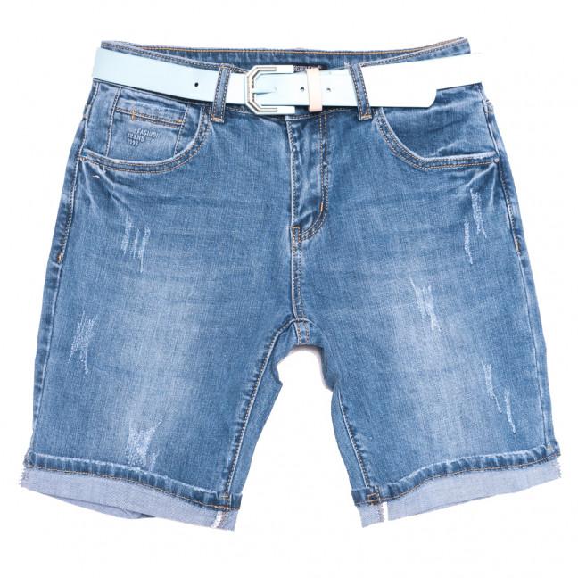 9500 LDM шорты джинсовые женские с царапками синие стрейчевые (25-30, 6 ед.) LDM: артикул 1108910