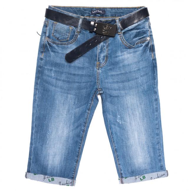 0170 Lan Bai шорты джинсовые женские батальные с царапками синие стрейчевые (31-38, 6 ед.) Lan Bai: артикул 1108924