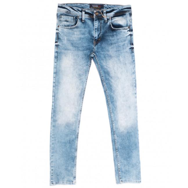 6455 Fashion Red джинсы мужские с царапкой синие весенние стрейчевые (29-36, 8 ед.) Fashion Red: артикул 1108712