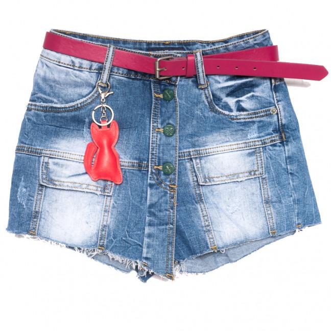 0161 Lan Bai шорты джинсовые женские синие стрейчевые (25-30, 6 ед.) Lan Bai: артикул 1108932