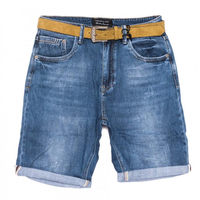 9414 Dmarks шорты джинсовые женские батальные с царапками синие коттоновые (31-38, 6 ед.) Dmarks: артикул 1108601