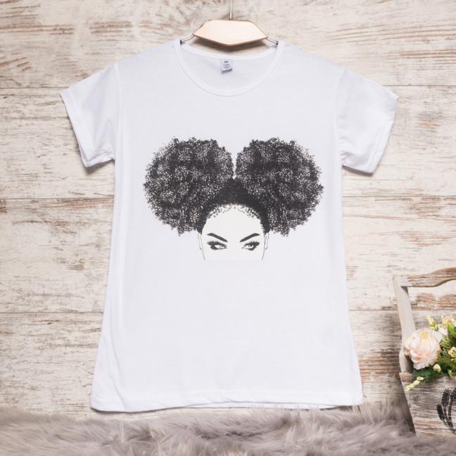 Белая женская футболка с принтом Carla Mara 3207-3 Carla Mara: артикул 1110814