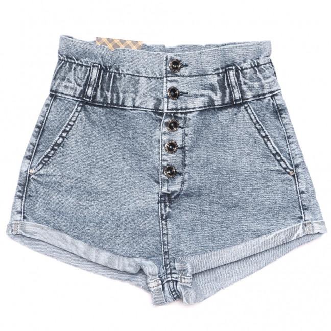 0742 Red Moon шорты джинсовые женские на пуговицах синие стрейчевые (25-30, 6 ед.) Red Moon: артикул 1109161