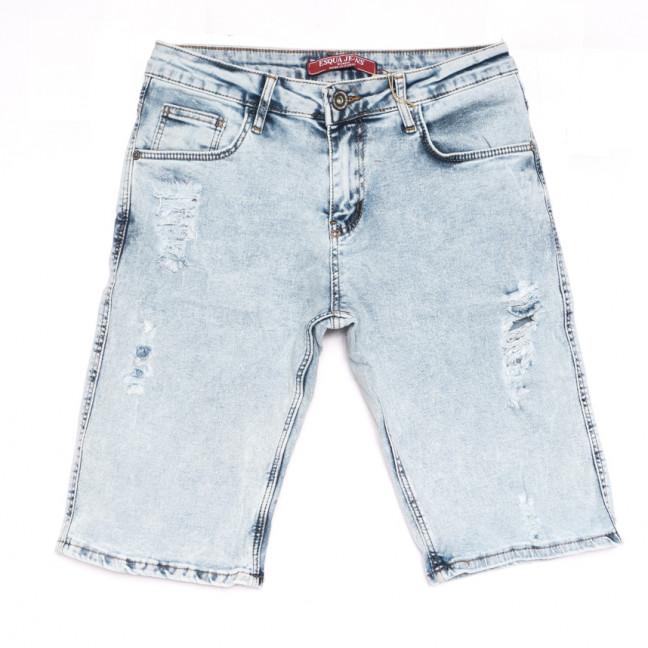 4054 Esqua шорты джинсовые женские с рванкой синие стрейчевые (25-30, 6 ед.) Esqua: артикул 1108416