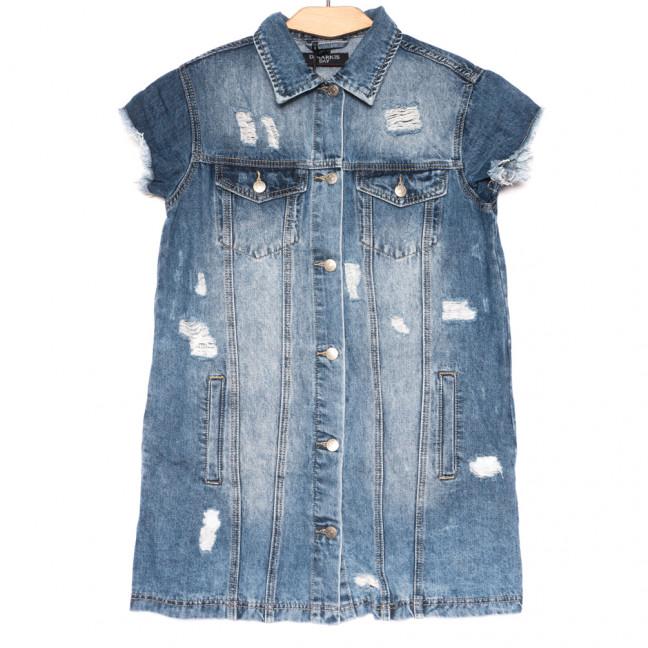 3027 Dimarkis day куртка джинсовая женская синяя летняя коттоновая (S-XL, 4 ед.) Dimarkis Day: артикул 1109104