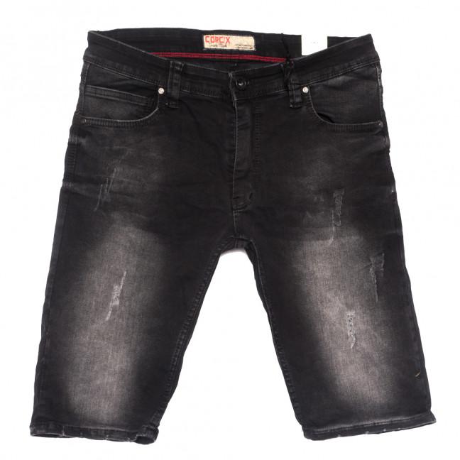 6621 Corcix шорты джинсовые мужские полубатальные с царапками серые стрейчевые (32-40, 8 ед.) Corcix: артикул 1109468