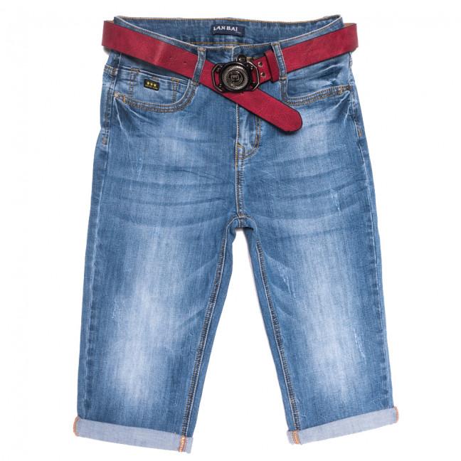 0172 Lan Bai шорты джинсовые женские батальные с царапками синие стрейчевые (31-38, 6 ед.) Lan Bai: артикул 1108923