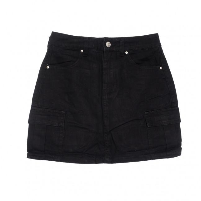 9055-1 черная Saint Wish юбка джинсовая летняя коттоновая (XS-XL, 5 ед.) Saint Wish: артикул 1108234