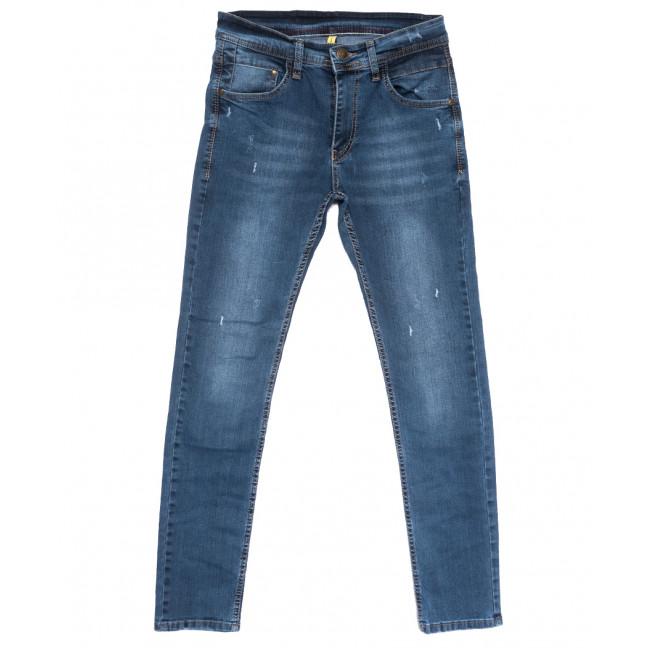 1957 Mc Store джинсы мужские зауженные с рванкой синие весенние стрейчевые (29-36, 8 ед.) MC Store: артикул 1108449