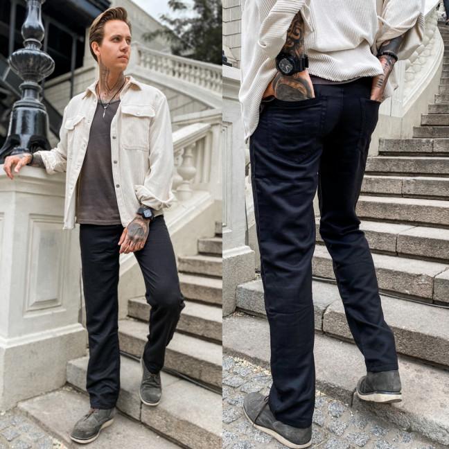 67026 черные LS брюки мужские весенние котоновые (30-38, 8 ед.) LS: артикул 1108539