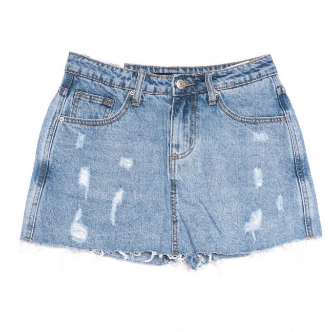 9027 Saint Wish шорты джинсовые женские с рванкой синие коттоновые (25-30, 6 ед.) Saint Wish: артикул 1108250
