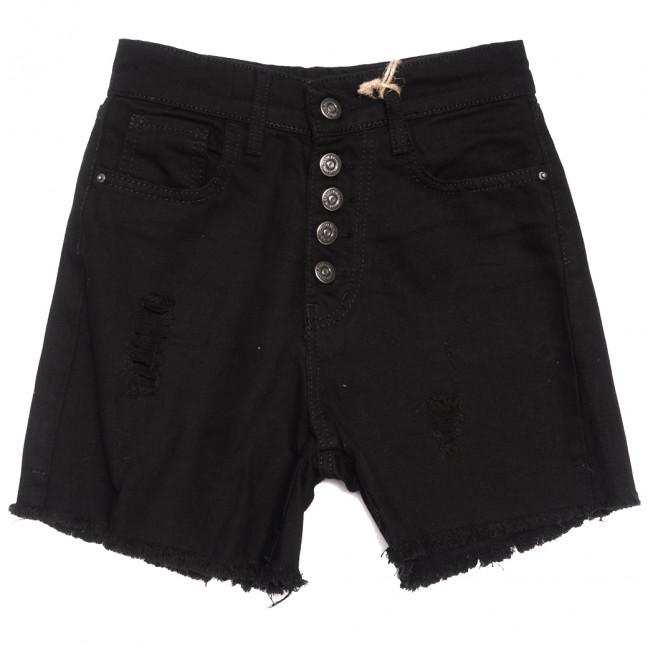0209 Dobre шорты джинсовые женские на пуговицах черные коттоновые (34-42,евро, 5 ед.) Dobre: артикул 1108952