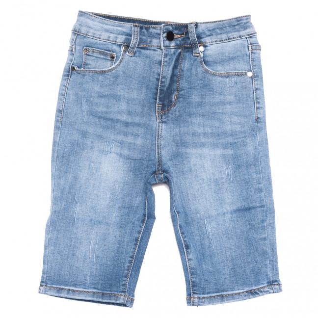 3749 New jeans шорты джинсовые женские с царапками синие стрейчевые (25-30, 6 ед.)  New Jeans: артикул 1108991