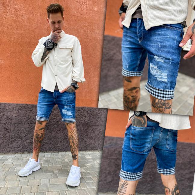 0253 Denim Wear шорты джинсовые мужские рваные стрейчевые (29-36, 8 ед.) Denim Wear: артикул 1109263