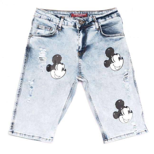 4054 Esqua шорты джинсовые женские с принтом синие стрейчевые (25-30, 6 ед.) Esqua: артикул 1108417