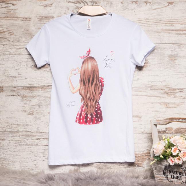 Белая женская футболка с принтом Akkaya 3206-3 Akkaya: артикул 1110810