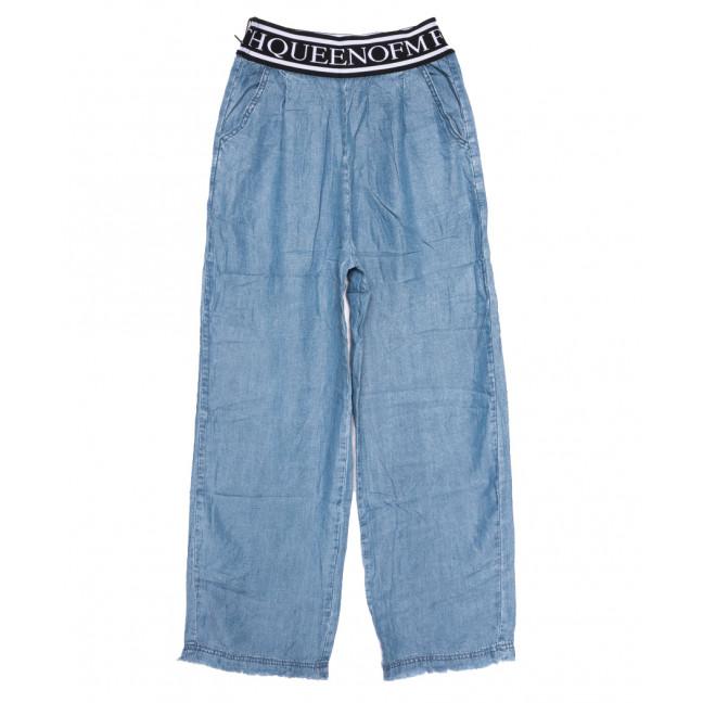 9072 Saint Wish брюки женские на резинке синие летние коттоновые (XS-XL, 5 ед.) Saint Wish: артикул 1108244