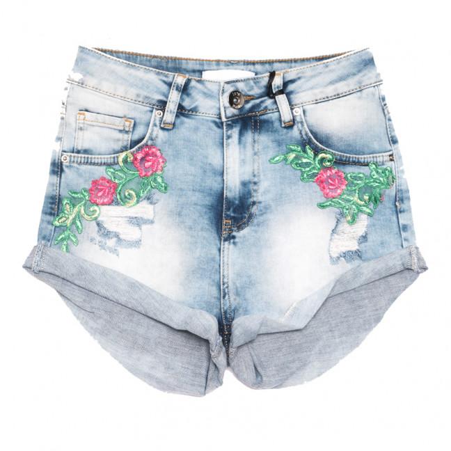 0662 Mavi Its Basic шорты джинсовые женские с аппликацией синие стрейчевые (36-44,евро, 6 ед.) Its Basic: артикул 1108420
