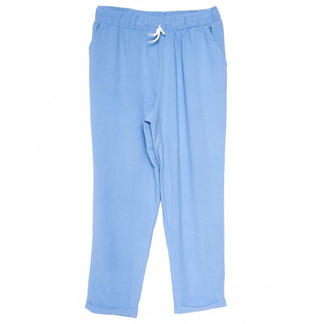 0222 голубые Exclusive брюки женские спортивные батальные летние стрейчевые (50-54, 3 ед.) Exclusive: артикул 1109487